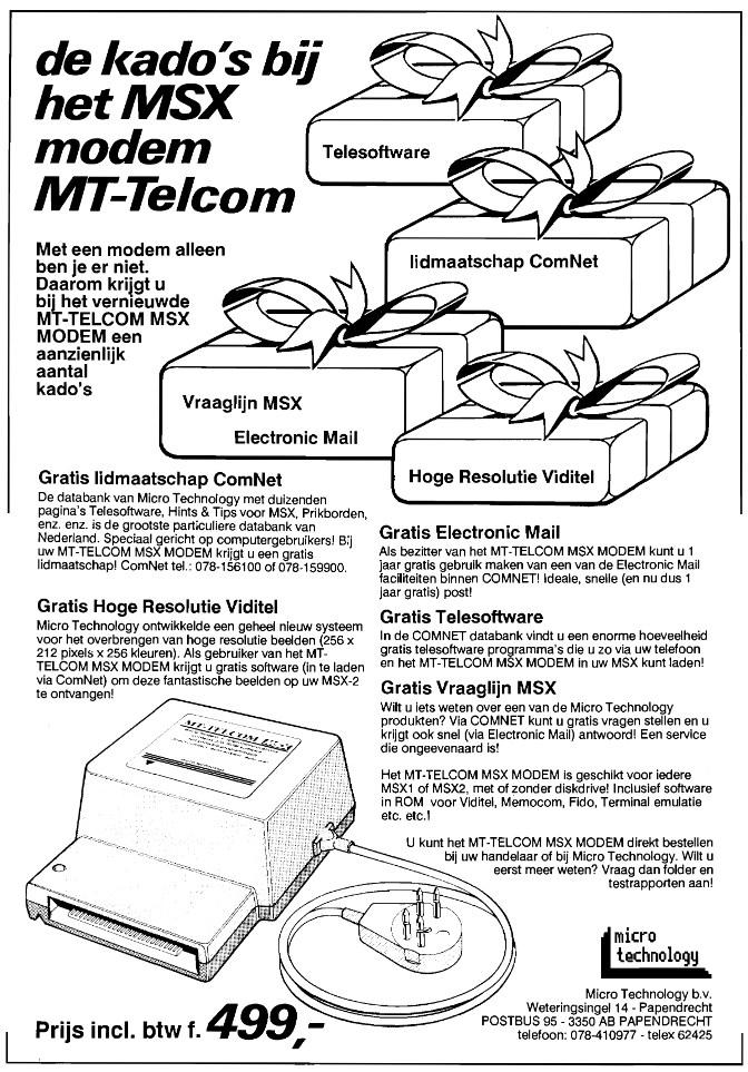 MT-Telcom - MSX moden